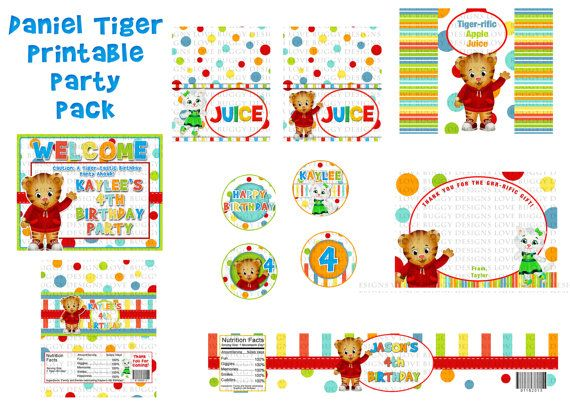 Daniel Tiger Party Pack Daniel Tiger Party by lovebuggydesigns, $19.99
