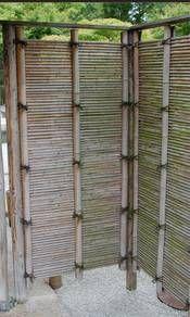 Bambuszaun in Berlin-Marzahn