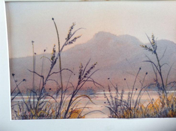 35x50watercolour 2014 - Smoke Haze, Derwent River. Sandy Michell