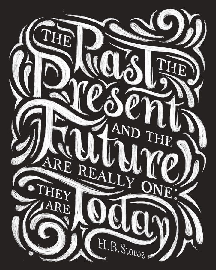 A few chalkboard inspired typography pieces