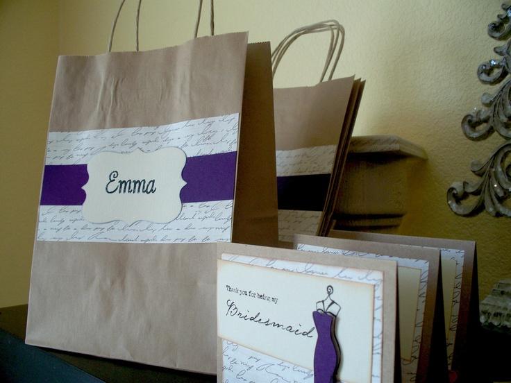 Gift bag decorating idea