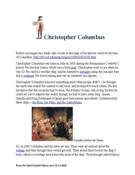 #ChristopherColumbus #ColumbusDay Lesson one of a thirty-four week study of early American history beginning with Christopher Columbus' discovery of the New World in 1492 and ending with the creation of the Bill of Rights in 1791-about 300 years! These lessons will spark your child's interest in United States history through the use of text, vocabulary words, pictures, crafts, maps, games, speeches, and even some recipes.