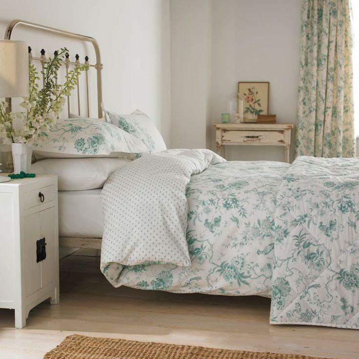 Toile Bedding Pilemont Aqua Duvet Covers By Sanderson At