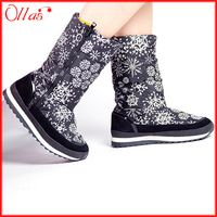 The new style snow boots winter shoes woman popular russia flatform women winter boots brand zipper boats free shipping