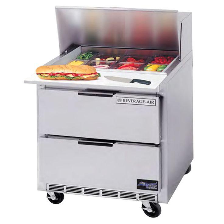 Beverage Air Sped36hc 08 2 36 2 Drawer Refrigerated Sandwich Prep