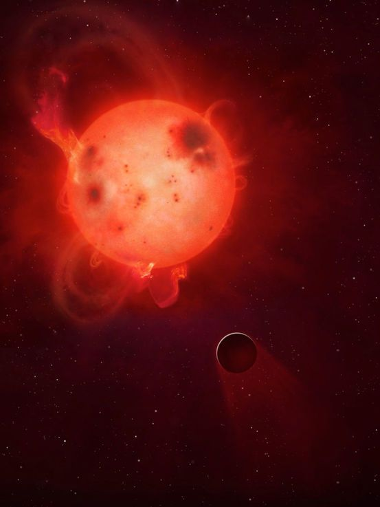 """Earth-like Planets  Kepler-438b  Kepler-438b orbits a red dwarf star roughly 470 light-years from Earth. The planet is considered to be very similar to Earth in terms of radius and mass, but is likely not a habitable planet, according to astronomers. That's because, according to a 2015 study, Kepler-438b's parent star is extremely volatile, sending out """"superflares"""" that are 10 times as powerful as anything recorded on the sun."""
