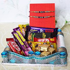 Get Rakhi with chocolates Love Combo