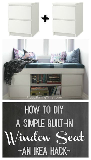 To build a simple built-in window seat (an IKEA ha…