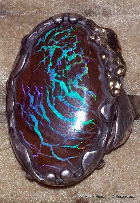 Boulder Opal Matrix mined near Winton , Queensland, Australia. D. Rosenkranz