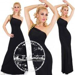 Rochie eleganta lunga neagra Seductive