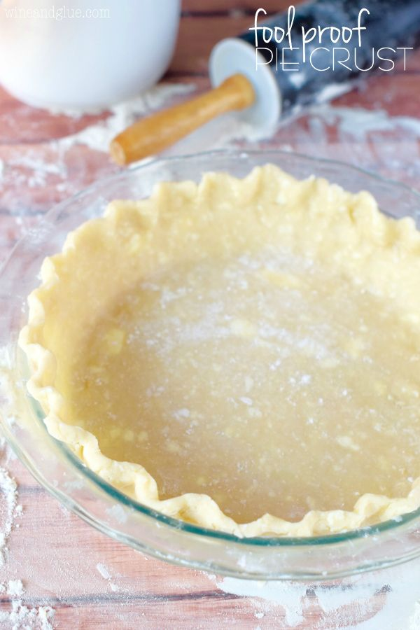 This Fool Proof Pie Crust is seriously so easy, moist and delicious! Step by step photo tutorial!