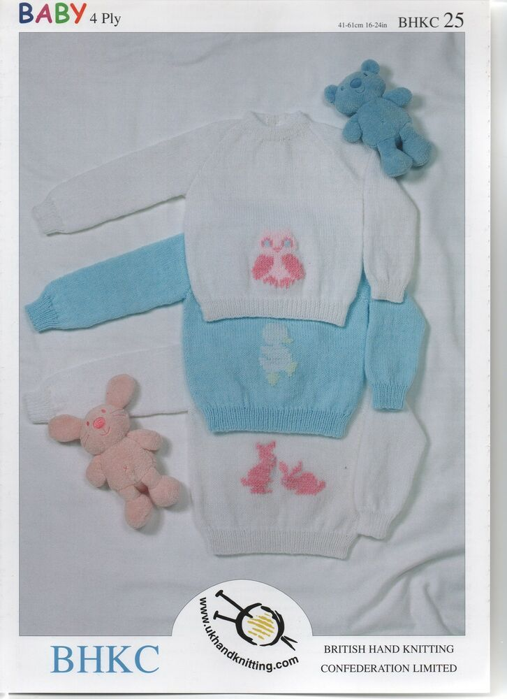 Baby Double Knitting /& 4 Ply Pattern Ribbed Cardigans Sweaters Jumpers UKHKA 3