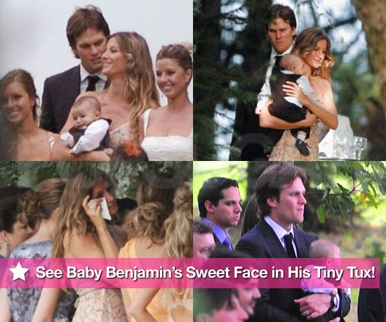See Tom and Gisele's Baby Benjamin Brady's Sweet Face in His Tiny Tux!