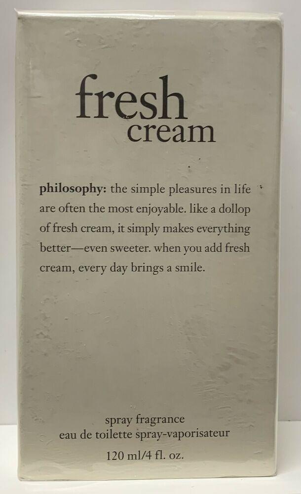 Philosophy Fresh Cream Eau De Toilette Spray Fragrance Sealed 4 Oz Philosophy Fragrance Spray Philosophy Fresh Cream Eau De Toilette