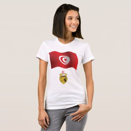 #Tunisia Flag Womens T-Shirt - #country gifts style diy gift ideas