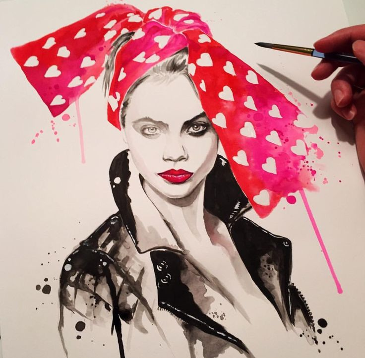#CaraDelevingne @danielpaigestudio #fashionillustrations| Be inspirational ❥|Mz. Manerz: Being well dressed is a beautiful form of confidence, happiness & politeness
