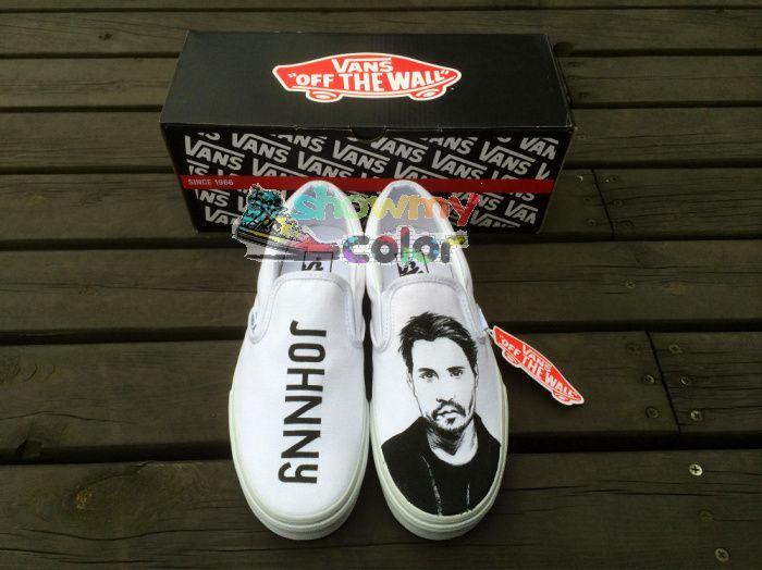 White Vans Sneaker Customizable Hand Painted Slip On Canvas Shoes for Men Women Vans Sneakers $4347,98