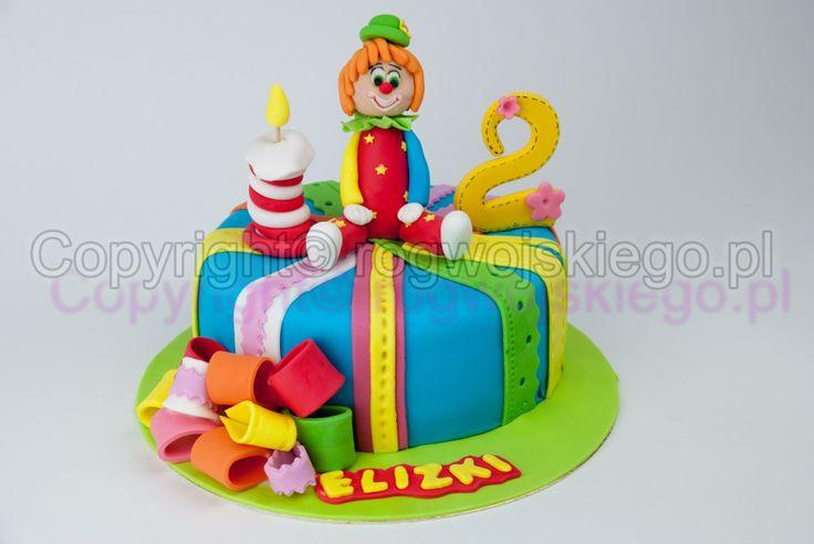 tort klown, clown cake, tort dla dziewczynki, tort kolorowy, kolorowe torty, piękne torty, piękny tort, dla dziecka