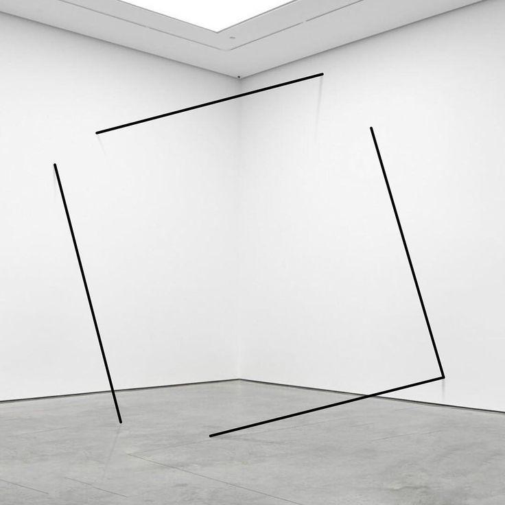 "Mikael Christian Strøbek (@mikaelchristianstrobek) on Instagram: """"Leaning Square"". 2017.  #conceptualart #sculpture #artist  #installationart #minimalsculpture…"""