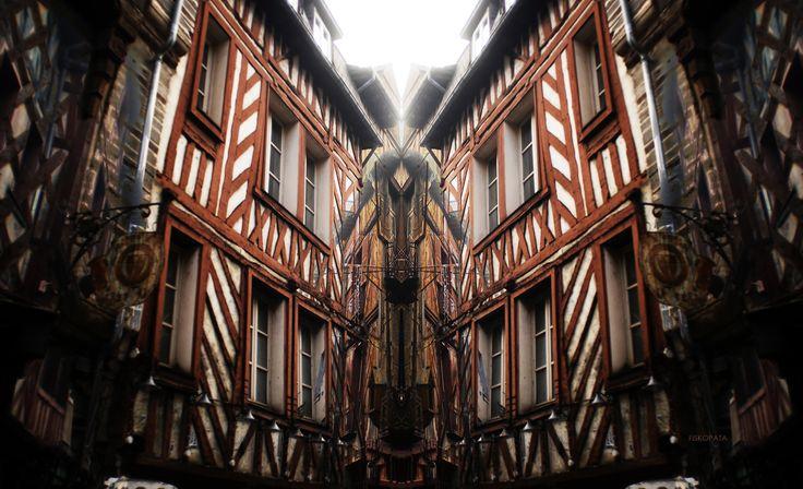 Rue Saint-Michel (Rue de la Soif - Calle de la Sed) - Rennes - Francia