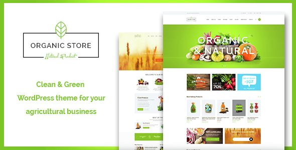 Organic store is a colorful design perfectly suitable for agricultural business, agrotourism, healthy food blog, organic food shop, organic farm, bakery – anything you want!  The theme has an and intuitive visual interface and informative layout that looks wonderful on any platform, since it's fully responsive and Retina ready.   #food #blog #design #theme #wordpress