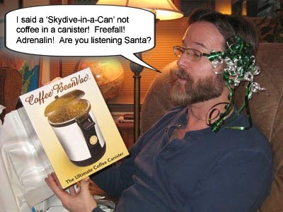 Don't disappoint your loved ones this Christmas - give them a 'Skydive-in-a-Can' skydive gift voucher!  www.sunshinecoastskydivers.com.au