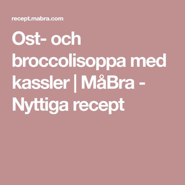 Ost- och broccolisoppa med kassler | MåBra - Nyttiga recept