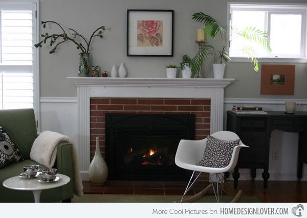 15 Traditional Mantel Designs Red Brick FireplacesWall ColorsPaint