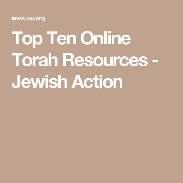 Top Ten Online Torah Resources - Jewish Action