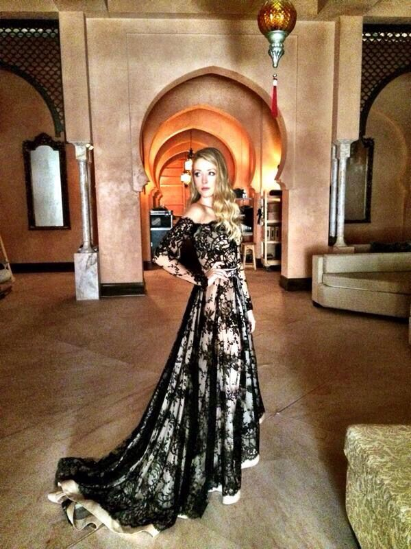 The stunning Lace black gown worn by Jennifer Finnigan on Tyrant. Jennifer is stunning, as well.