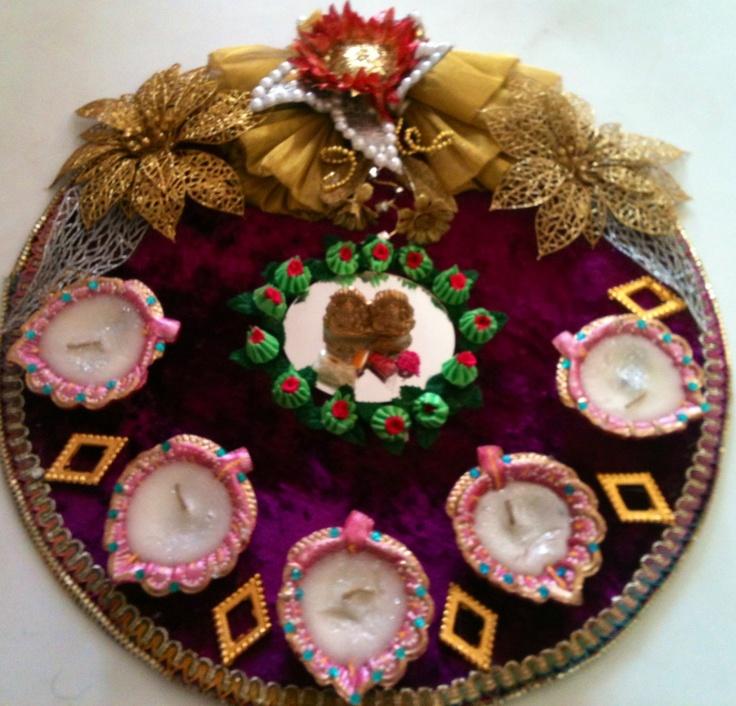 Pooja platter karvachauth platter