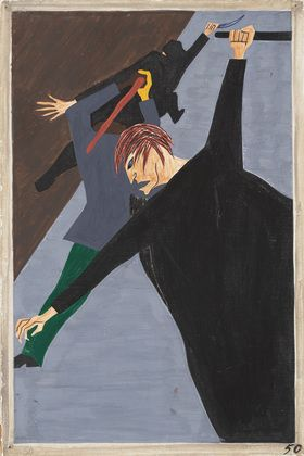 Jacob Lawrence - Race riots were very numerous all over the North because of the antagonism that was caused between the Negro and white workers. Many of these riots occurred because the Negro was used as a strike breaker in many of the Northern industries  Date:1940-41