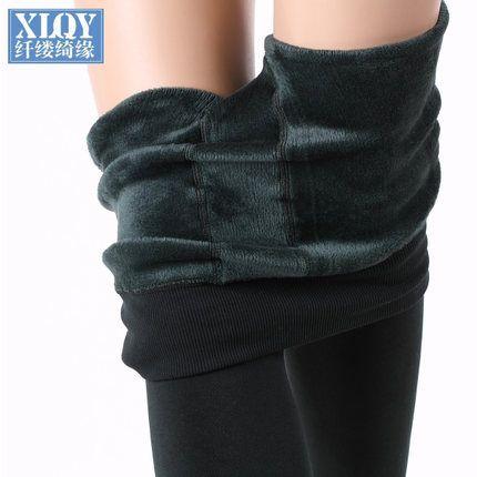 xlqy внешний износ плюс толстые бархатные леггинсы жа осень и зима модели талии брюки ноги теплые брюки большие дворы дамы -tmall.com Lynx