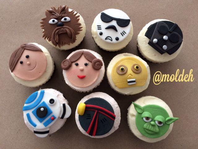 Cupcakes de personajes de Star Wars // Star Wars characters Cupcakes