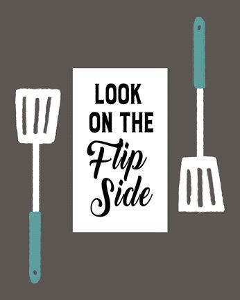 Framed Retro Kitchen II - Look On The Flip Side Print