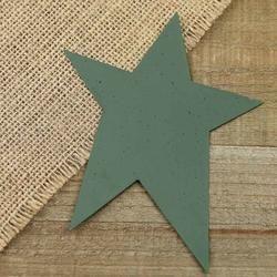 """Speckled Green Tin Stars     1 piece     5"""" L x 4"""" W   $.99"""