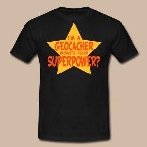 Geocaching Superpower for men - Miesten t-paita