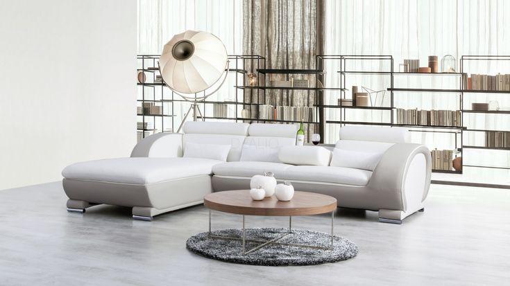 Carmel Leather Chaise Lounge Option C - Lounge Life