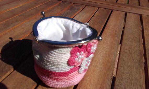 Alize Batik Crochet Purse by BessFlowerPots on Etsy