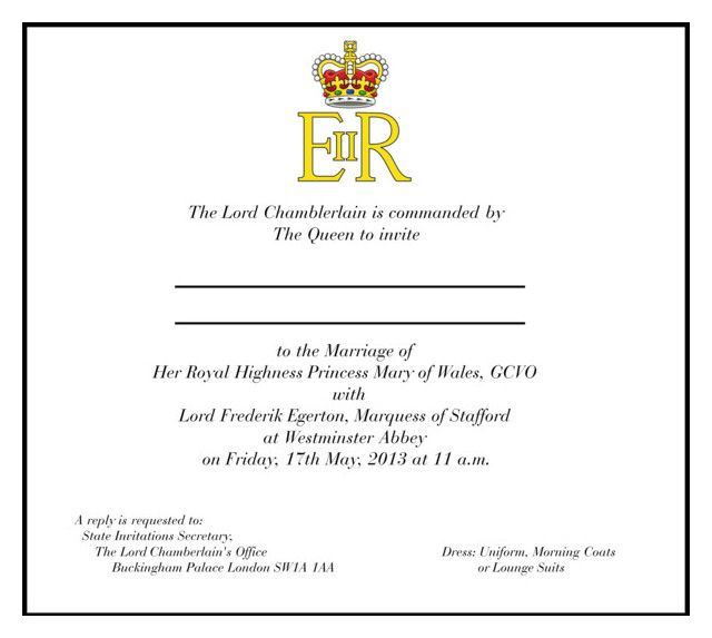 Official Royal Wedding Invitation + Guest List
