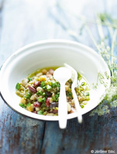 Cocos de paimpol en salade tiède   pour 4 personnes - Recettes Elle à Table