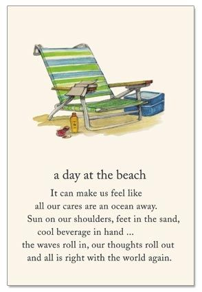 A Day at the Beach...and all is right with the world again!