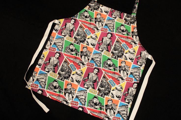 Star Wars the Force Awakens kids Apron, Boys Apron, Childrens Apron by NessasCreationsAus on Etsy