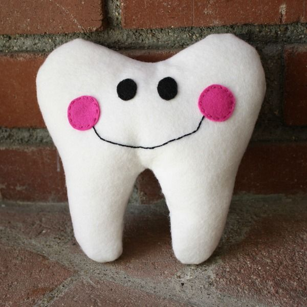 Here's an easy tooth fairy pillow tutorial using felt. It's simple enough for even the beginning sewer and is absolutely adorable!