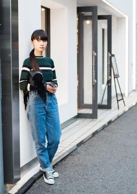 FUDGE.JP – Snap No.1354 Brand Bottoms : ZARA Shoes : CONVERSE Bag : No Brand