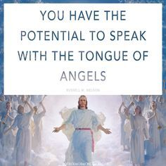 """Do you know what it means to """"speak with the tongue of angels""""? Learn how this relates to singing praises, the fire of the Holy Ghost, joining God's heavenly council, and coming to the temple. http://www.knowhy.bookofmormoncentral.org/content/what-is-it-to-speak-with-the-tongue-of-angels #Angels #Temples #TongueOfAngels #Sing #Mormon #LDS #BookofMormon #Knowhy"""