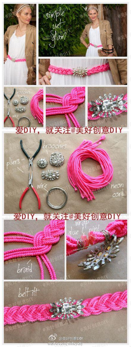 DIY Simple Pink Yet Glam Belt