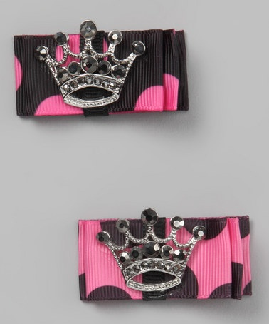 Lexi Kate Rhinestone Crown Clip Set on #zulilyFree Membership, Lexie Kate, Crowns Clips, Pink, Kate Rhinestones, Kids Clothing, Clips Sets, Baby'S Toddle Fashion, Rhinestones Crowns