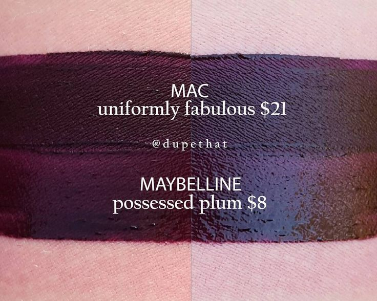 MAC Uniformly Fabulous = Maybelline Possessed Plum #dupe