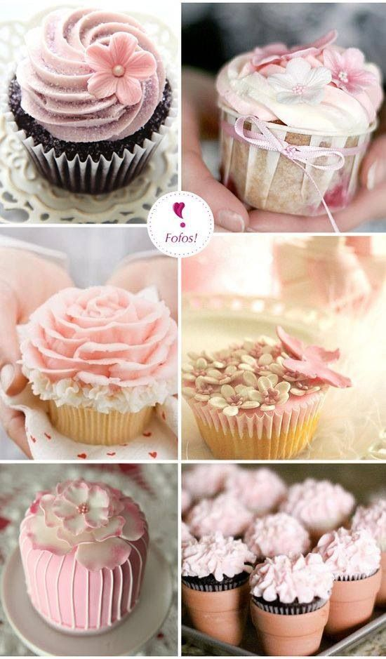Cupcake Decorating Ideas For Wedding Showers : 455 best images about Pink Bridal Shower - Desserts ...